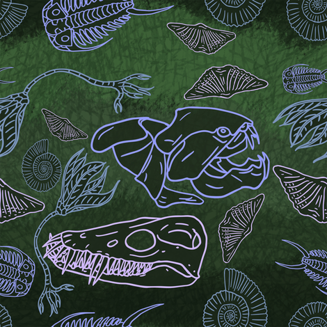 originalfossil2 fabric by craftyscientists on Spoonflower - custom fabric