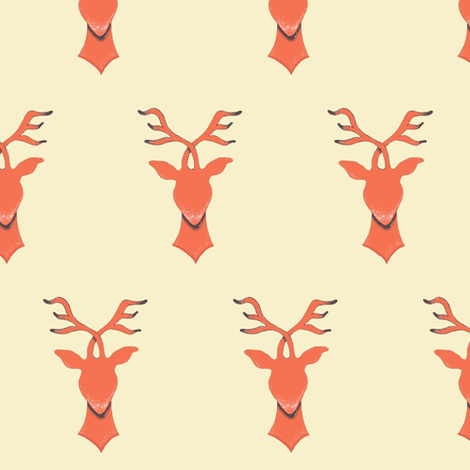 Crossed Antlers Updated fabric by lilafrances on Spoonflower - custom fabric