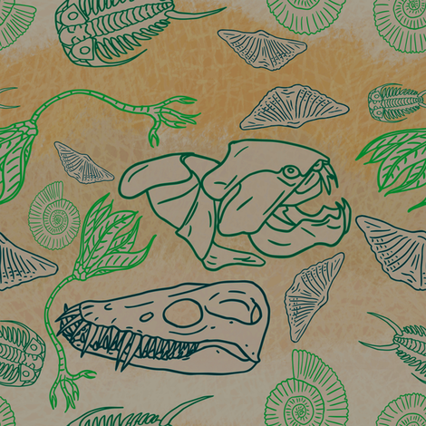 originalfossil4 fabric by craftyscientists on Spoonflower - custom fabric