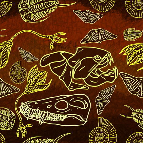 originalfossil7 fabric by craftyscientists on Spoonflower - custom fabric