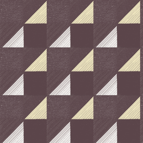 HandDrawn Triangles and Squares fabric by lilafrances on Spoonflower - custom fabric