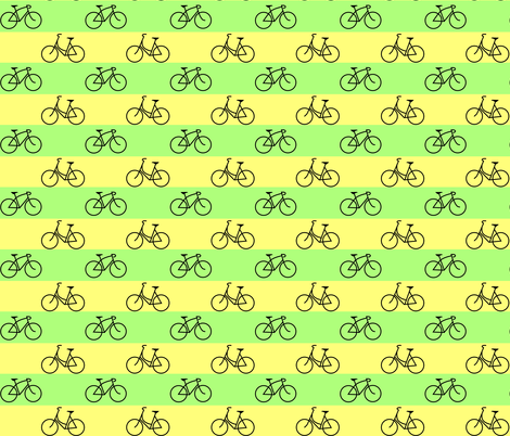 His and Hers Green and Yellow Stripes fabric by interrobangart on Spoonflower - custom fabric