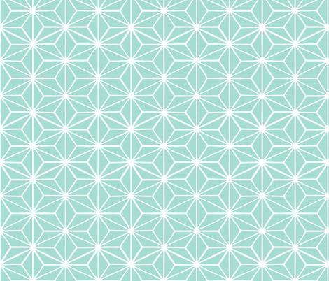 Star Grid Mirror Seafoam fabric by thistleandfox on Spoonflower - custom fabric