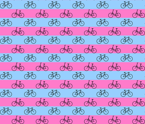 His and Hers Blue and Pink Stripes fabric by interrobangart on Spoonflower - custom fabric