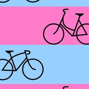 His and Hers Blue and Pink Stripes