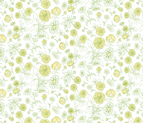RosesAndDaisies fabric by blairfully_made on Spoonflower - custom fabric