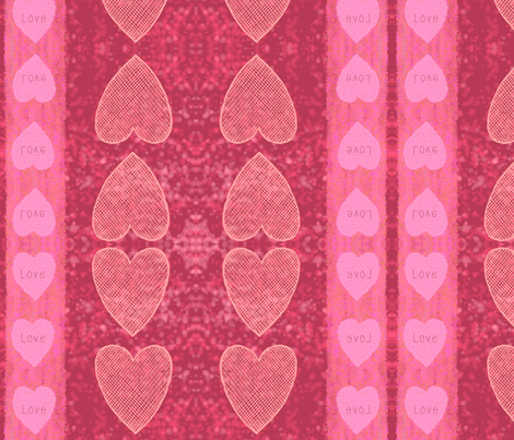 Pink Flush Love fabric by floramoon on Spoonflower - custom fabric