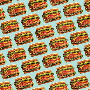 Turkey Bacon Avocado Sandwich Test Swatch