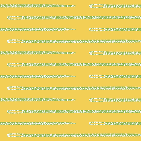Leafy Needles on Hex Code #f3cf55 fabric by anniedeb on Spoonflower - custom fabric