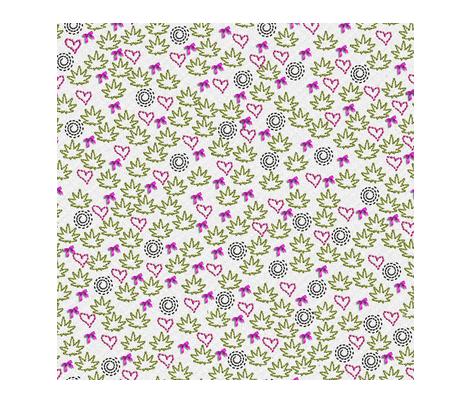 Ganja Greenery fabric by camomoto on Spoonflower - custom fabric