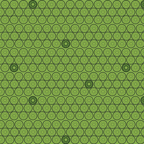 Bobbins in Shades of Green