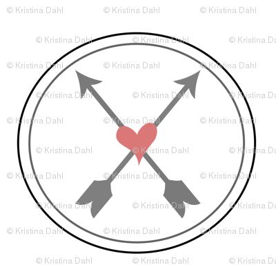 Circled Arrows and Hearts