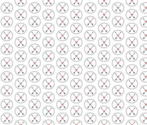 Circled Arrows and Hearts fabric by visualpoetry on Spoonflower - custom fabric