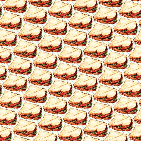 Lunchroom Sandwich fabric by kellygilleran on Spoonflower - custom fabric