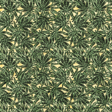 Marijuana Green Line fabric by camomoto on Spoonflower - custom fabric