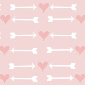 Pink Hearts and White Arrows