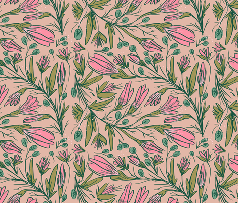 Alice's Garden fabric by denysemitterhofer on Spoonflower - custom fabric