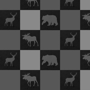 Moose Bear Deer Blocks