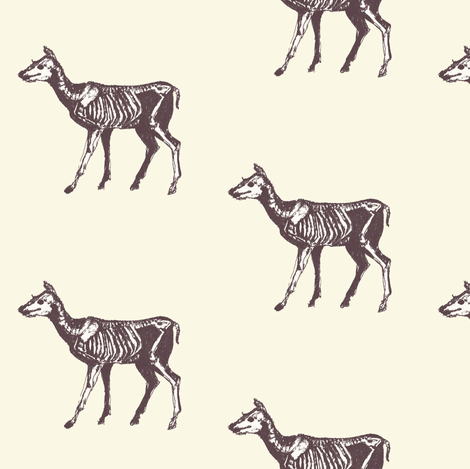 Fawn Bones Updated fabric by lilafrances on Spoonflower - custom fabric