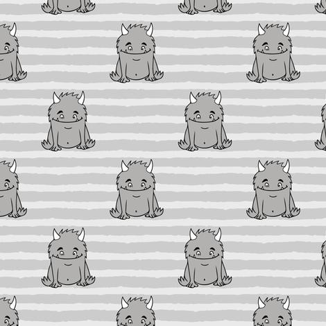 little Monsters    grey fabric by littlearrowdesign on Spoonflower - custom fabric