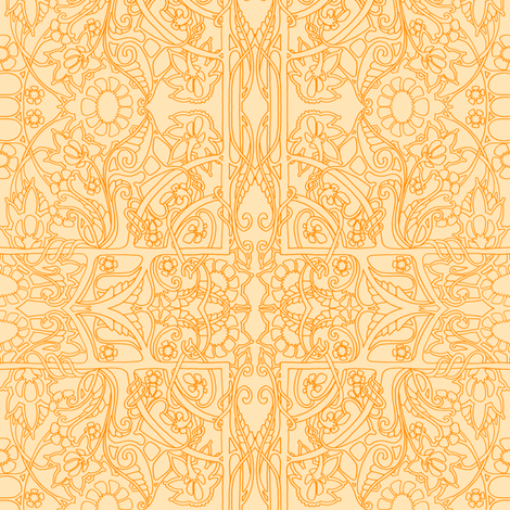Simple Summer Sunshine and Flowers fabric by edsel2084 on Spoonflower - custom fabric