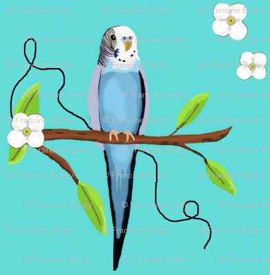 Budgie On Branch