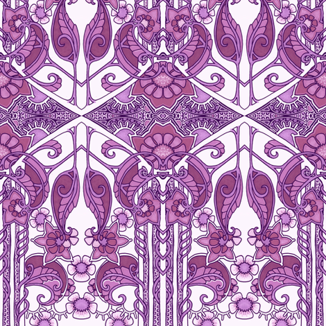 Doing the Paisley Leaf Droop fabric by edsel2084 on Spoonflower - custom fabric