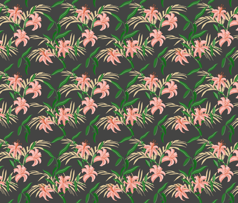 tiger_lily_dark_small fabric by holli_zollinger on Spoonflower - custom fabric