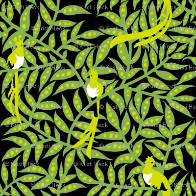 quetzales [greenery + black]