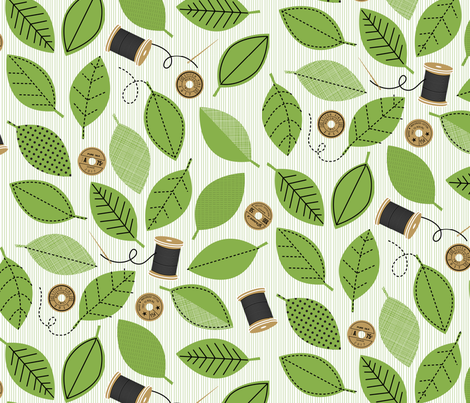 Thread Garden fabric by lellobird on Spoonflower - custom fabric