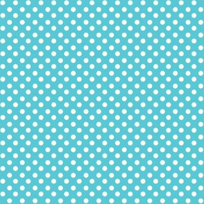 Light Blue + Polka White Dots