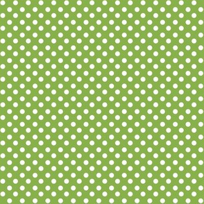 Greenery + Polka white Dots
