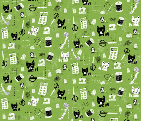 Sew what? fabric by skbird on Spoonflower - custom fabric