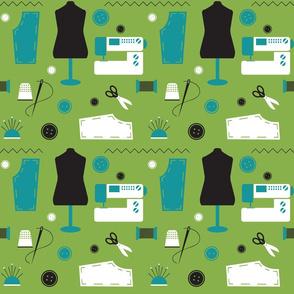Sewing Greenery