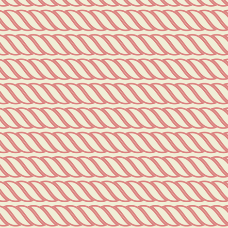 Coral Pink Rope Strands wallpaper - thinlinetextiles