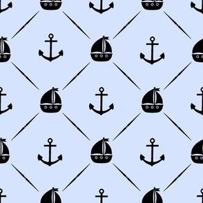 Anchors & Sailboats // Light Blue