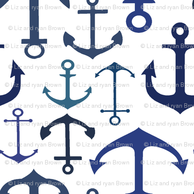 Blue Anchors // Nautical Collection