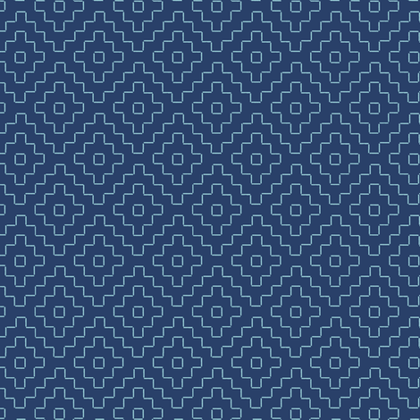 faux sashiko pluses on navy fabric by weavingmajor on Spoonflower - custom fabric