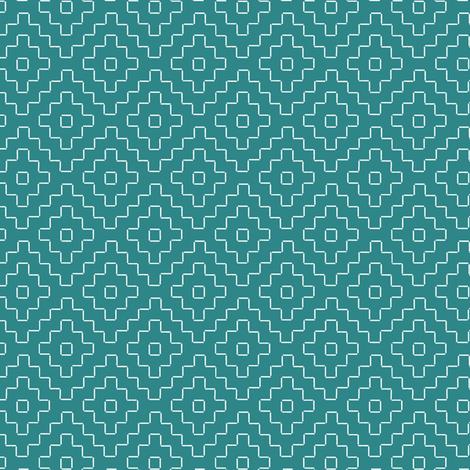 faux sashiko plus on teal fabric by weavingmajor on Spoonflower - custom fabric