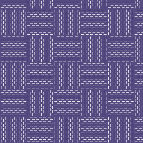 faux sashiko weave in soft purple fabric by weavingmajor on Spoonflower - custom fabric