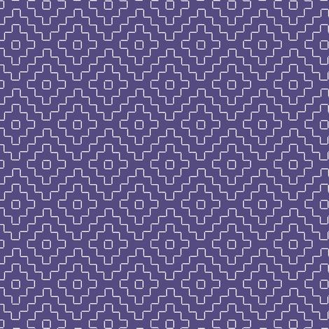 faux sashiko pluses in soft purple fabric by weavingmajor on Spoonflower - custom fabric