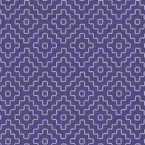 faux sashiko pluses in soft purple