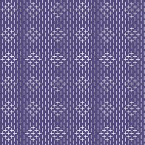 faux sashiko diamonds in soft purple