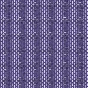 faux sashiko diamonds in soft purple