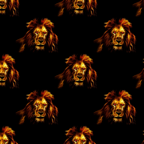 the king - lion house fabric by stofftoy on Spoonflower - custom fabric