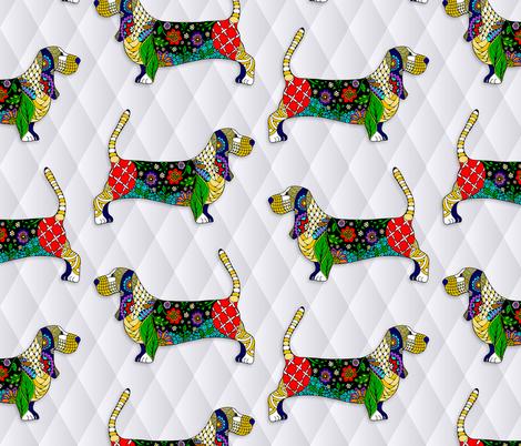 Bassett Hound fabric by pateisen on Spoonflower - custom fabric