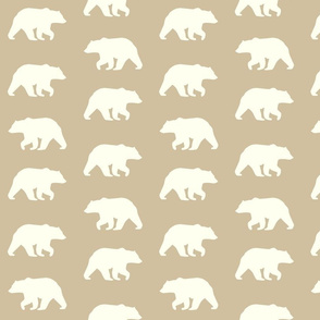 Bear Hike // Ivory on Taupe