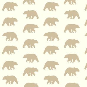 Bear Hike // Taupe on Ivory (Cream)