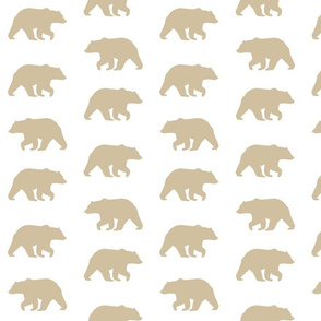 Bear Hike // Taupe on White