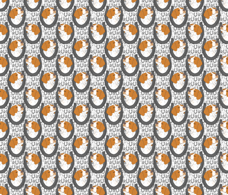 Brittany horseshoe portraits - small fabric by rusticcorgi on Spoonflower - custom fabric